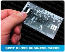 spot gloss business card